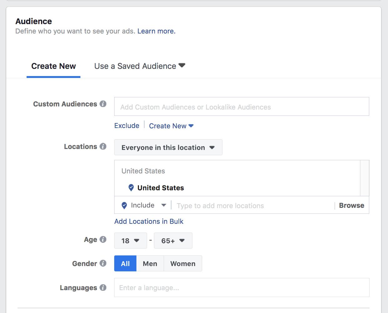 Create Facebook lead gen ad 5