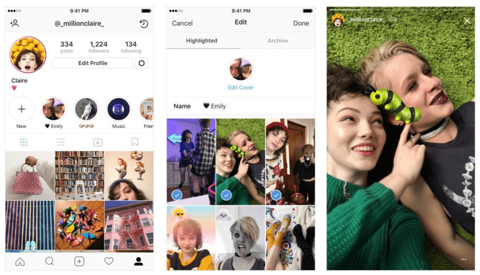 How to create a highlight from your Instagram Story