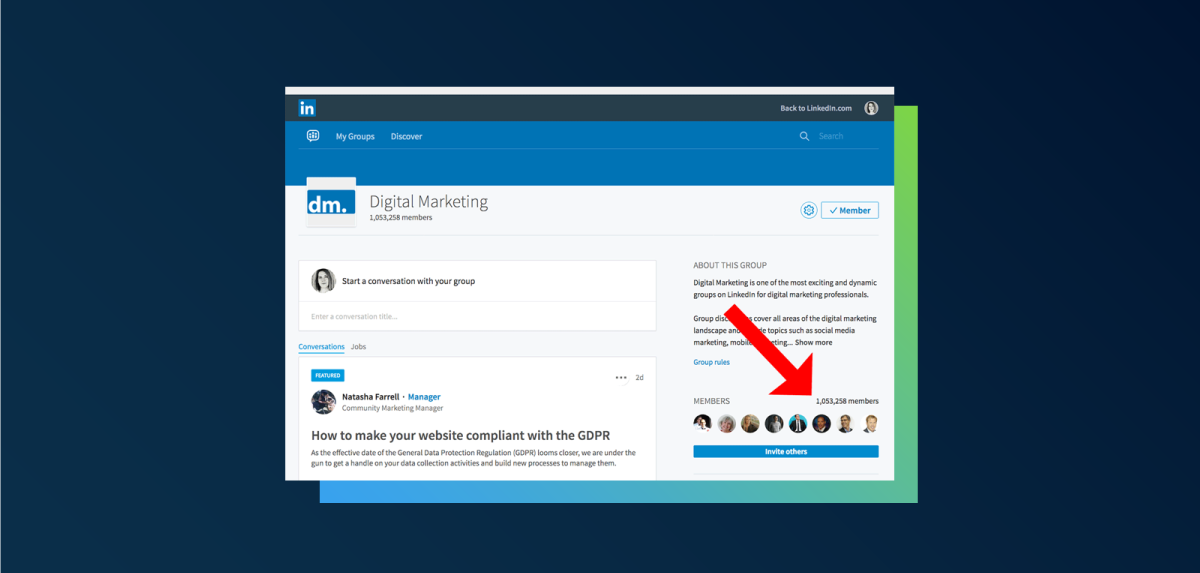 Connect to people you find in LinkedIn groups