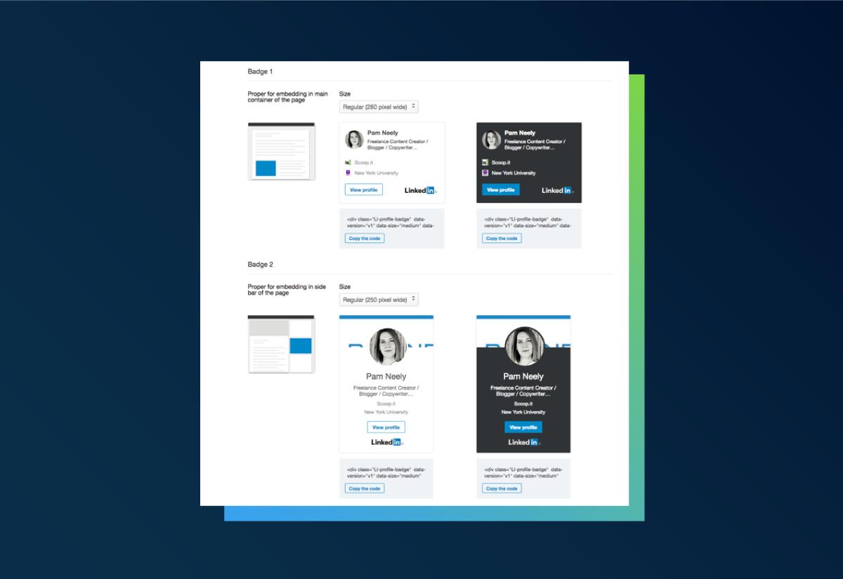 LinkedIn Badges
