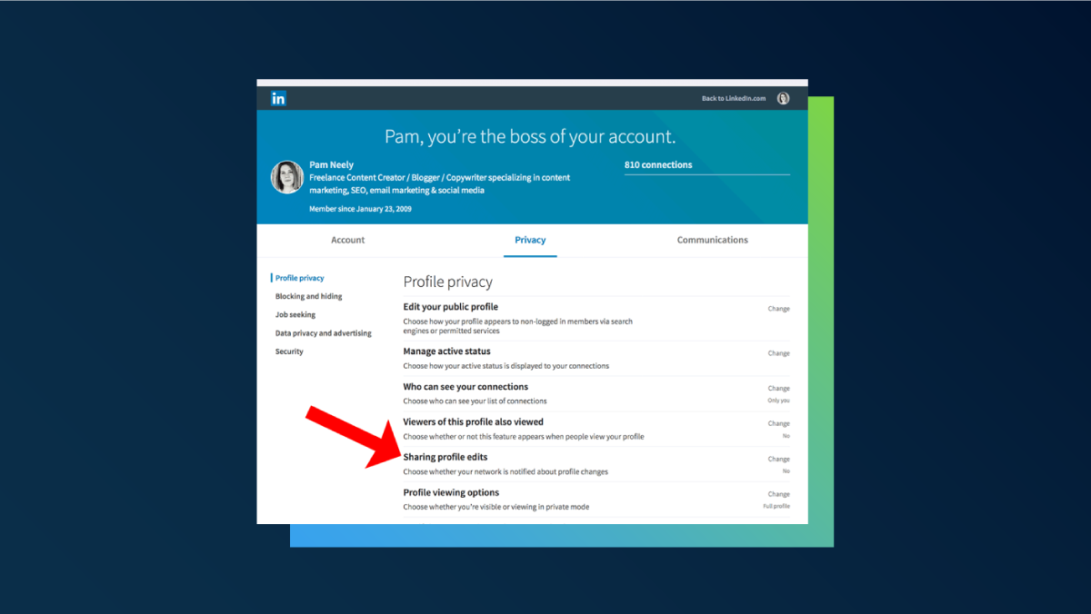How to turn off notifications about changes to your LinkedIn account - 2