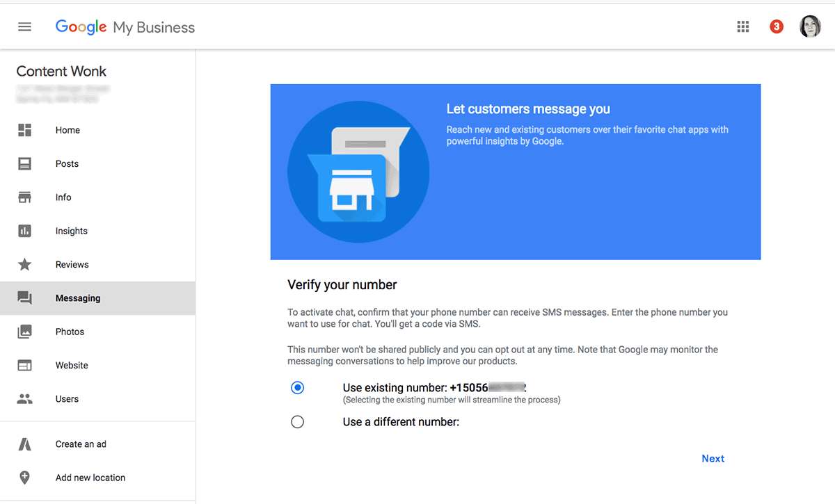 How to set up messaging for your Google My Business