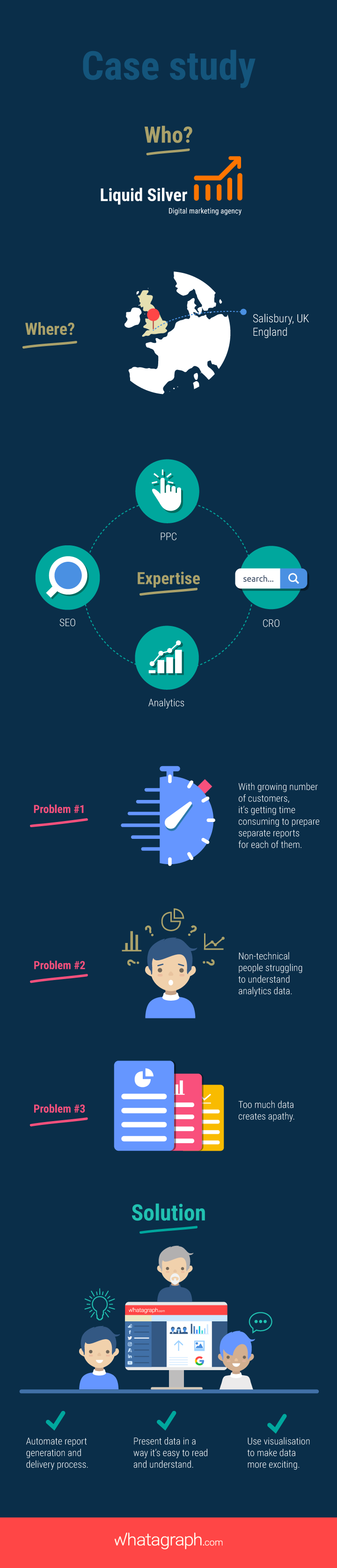 Infographic case study - Whatagraph and analytics reporting