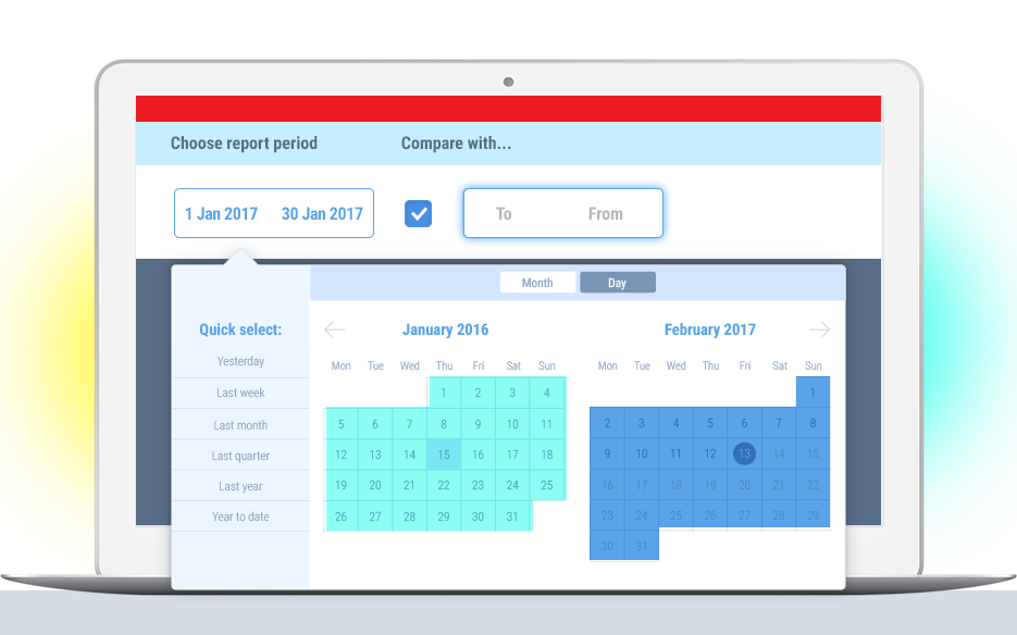 Whatagraph analytics dashboard calendar