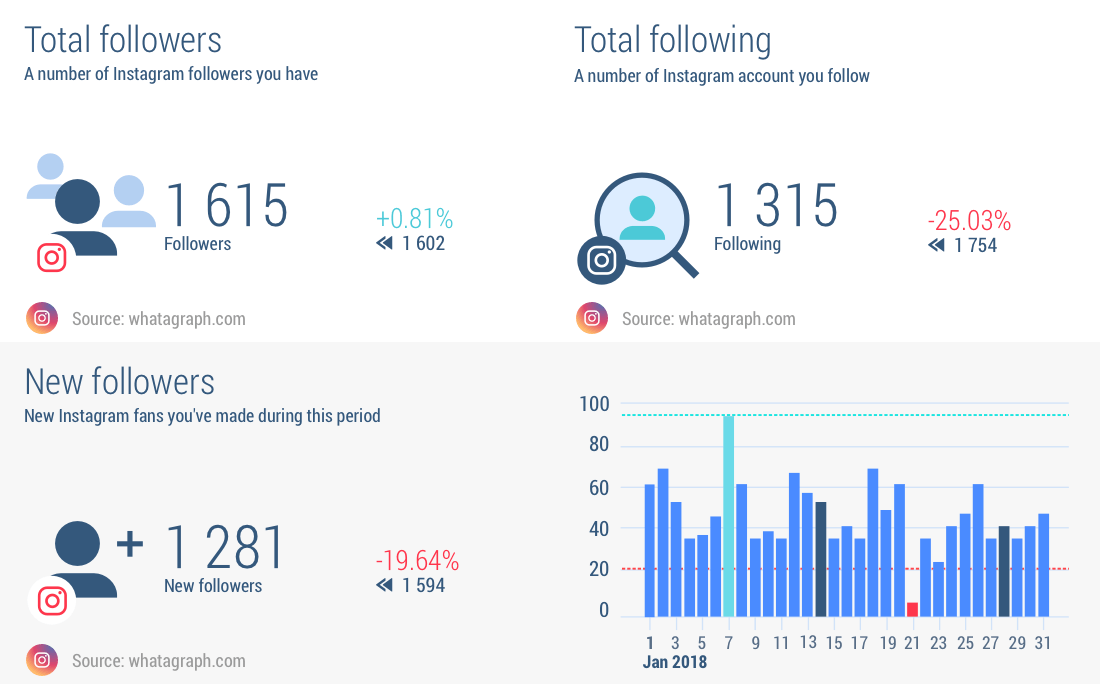 Instagram Analytics Report Tool | Whatagraph