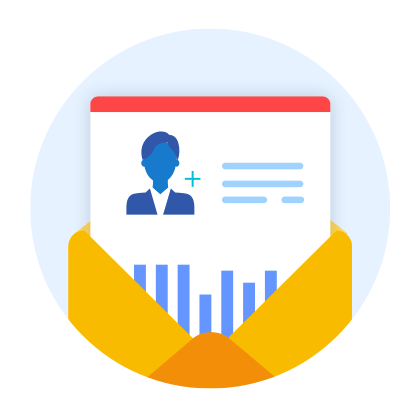 Keep your clients up to date with a report delivered straight to their inbox