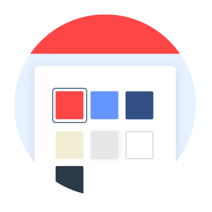 Upload your logo, choose your color scheme and access it from your domain